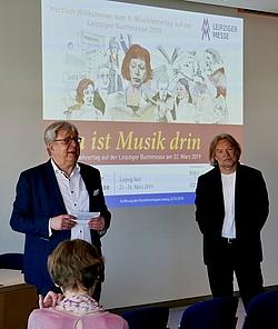 Eröffnung des Musiklehrertags mit Ortwin Nimczik und Georg Biegholdt