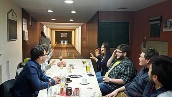 """""""Get-together"""" am Vorabend; Foto: Dorothee Pflugfelder"""